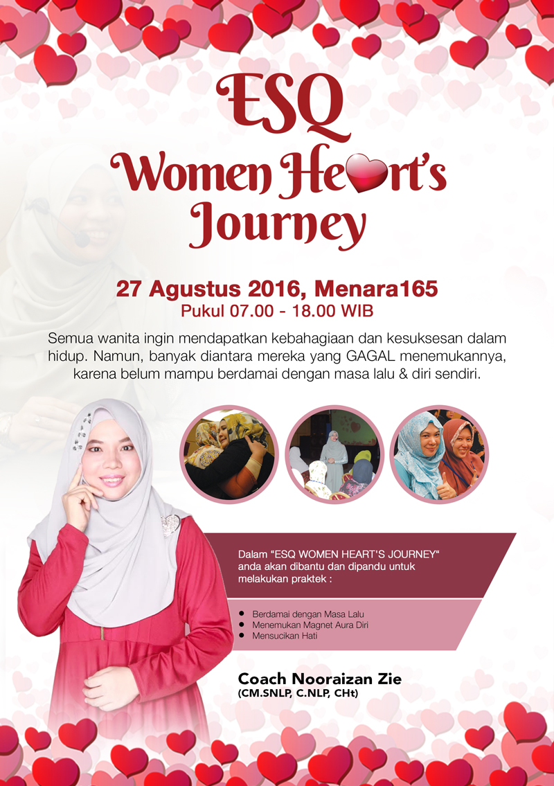 Jadwal Training-ESQ-Women-Hearts-Journey---Coach-Zie,-Jadwal-ESQ-Women-Hearts-Journey