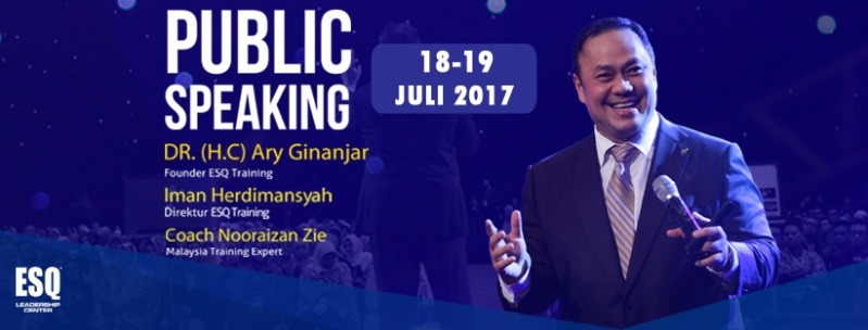 Training Public Speaking ESQ, Pelatihan Public Speaking, Training ESQ