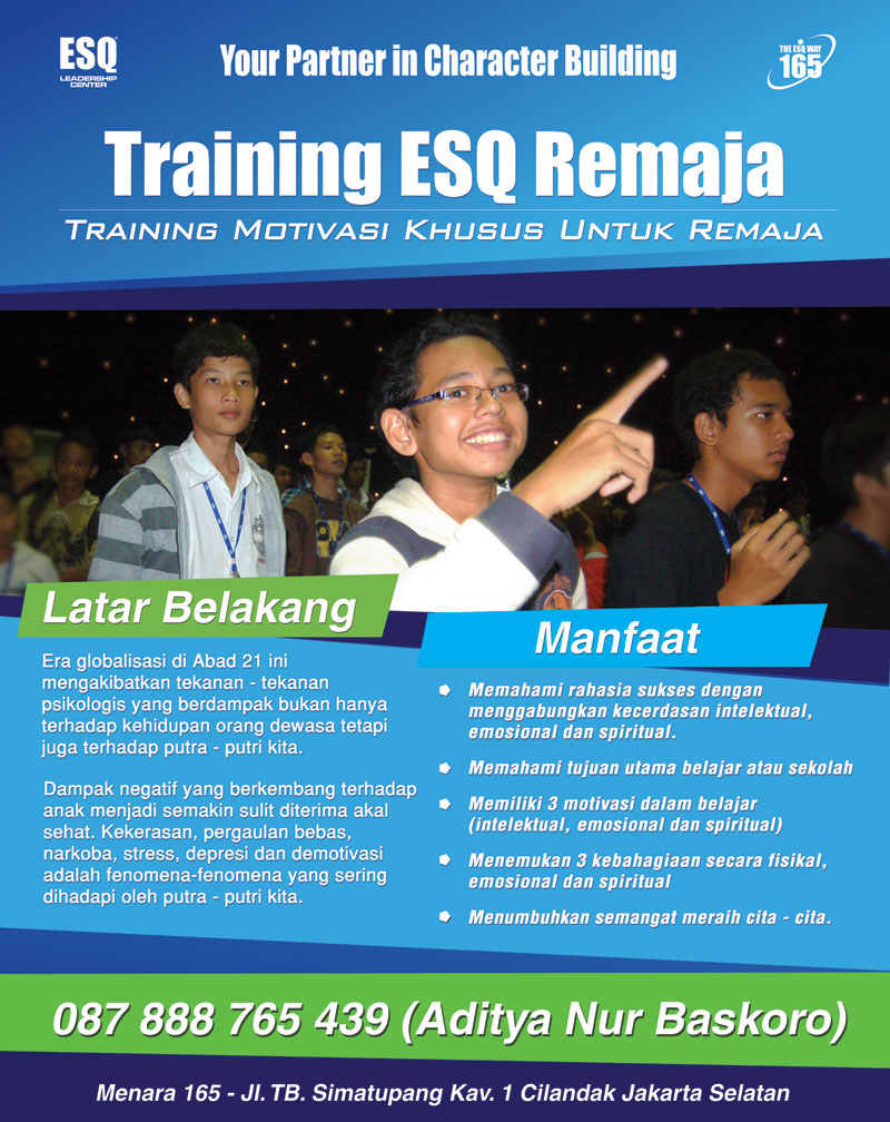 Training ESQ Remaja-Motivasi