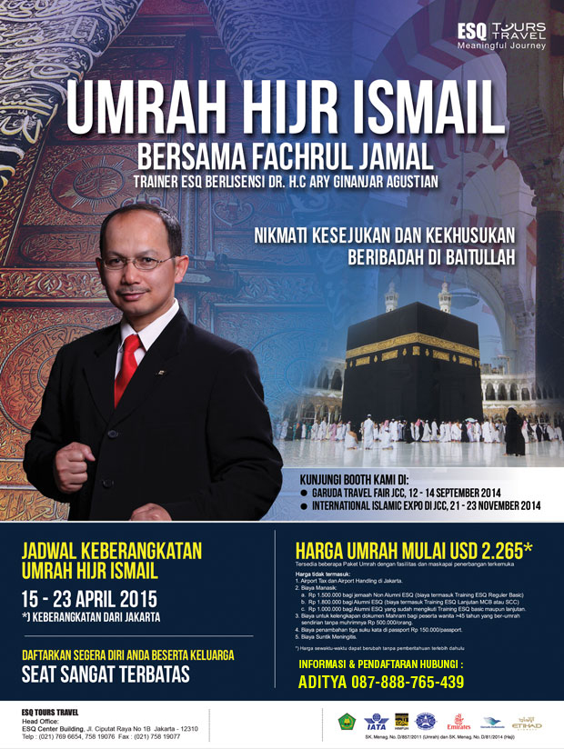 ESQ Tour Travel, Umroh ESQ, Travel Umroh, Travel ESQ, Umroh Bersama Trainer ESQ Fahrul Jamal