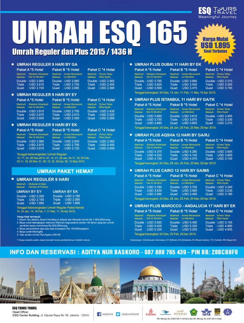 Travel-Umroh-ESQ-Jadwal-2015-Biaya-Diskon Tours-dan-Plesiran
