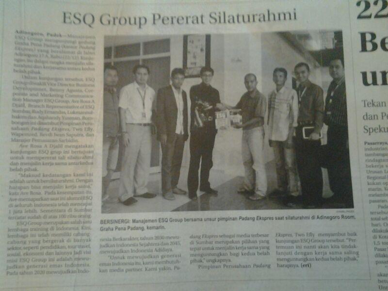 ESQ Group Kunjungan ke Padang  Ekspres