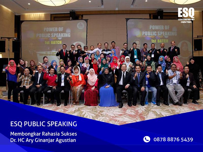 Jadwal ESQ Public Speaking, Training Public Speaking